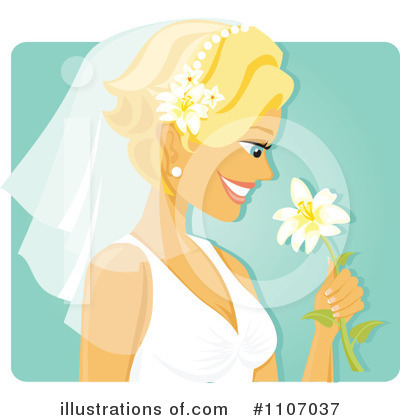 Bride Clipart #1107037 by Amanda Kate