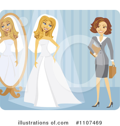 Bride Clipart #1107469 by Amanda Kate