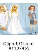 Royalty-Free (RF) bride Clipart Illustration #1107469