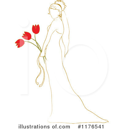 Wedding Dress Clipart #1176541 by Pams Clipart