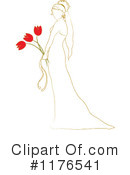 Royalty-Free (RF) Bride Clipart Illustration #1176541