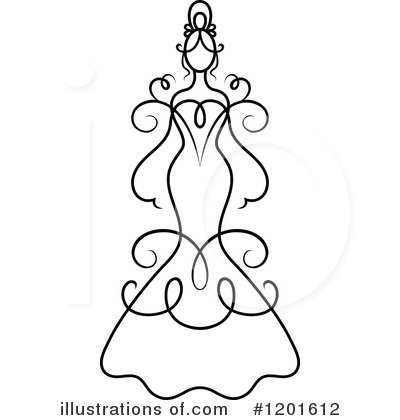 Wedding Dress Clipart #1201612 by Vector Tradition SM