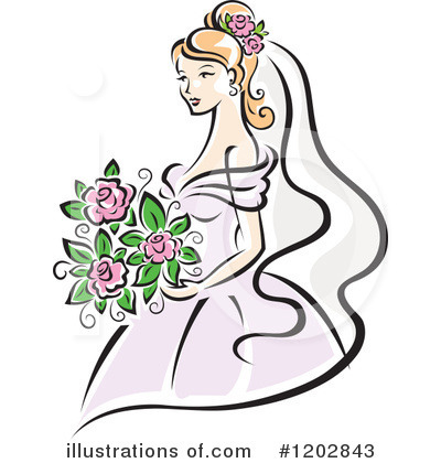 Bride Clipart #1202843 by Vector Tradition SM