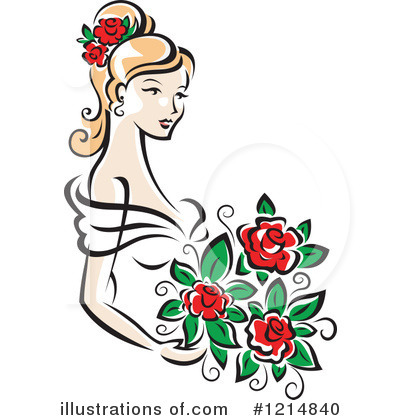 Wedding Dress Clipart #1214840 by Vector Tradition SM