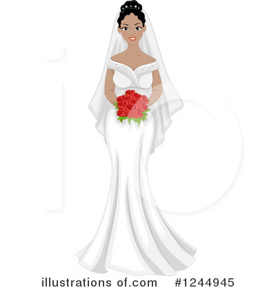 Bride Clipart #1244945 by BNP Design Studio
