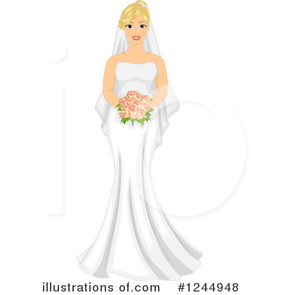 Bride Clipart #1244948 by BNP Design Studio