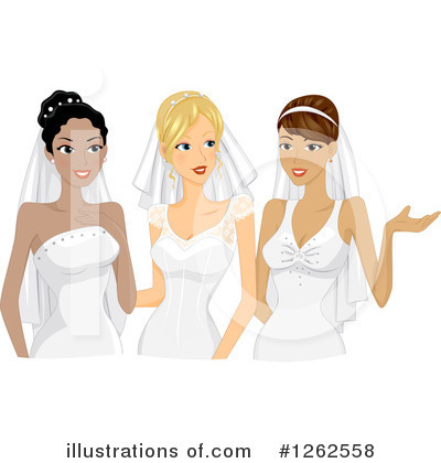Bride Clipart #1262558 by BNP Design Studio