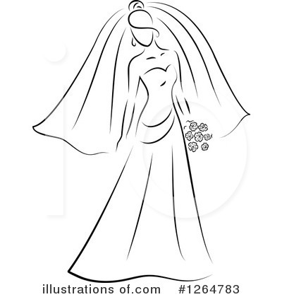 Bride Clipart #1264783 by Vector Tradition SM