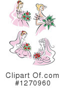 Royalty-Free (RF) Bride Clipart Illustration #1270960