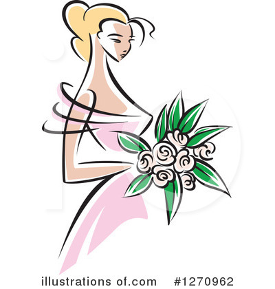 Wedding Dress Clipart #1270962 by Vector Tradition SM