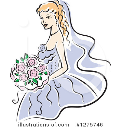 Wedding Dress Clipart #1275746 by Vector Tradition SM