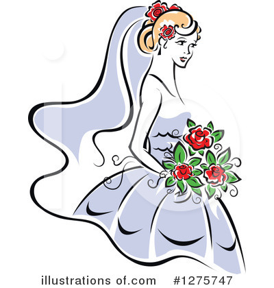 Royalty-Free (RF) Bride Clipart Illustration by Vector Tradition SM - Stock Sample #1275747