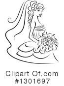 Bride Clipart #1301697 by Vector Tradition SM