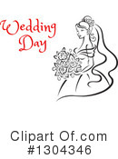 Bride Clipart #1304346 by Vector Tradition SM