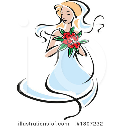 Bride Clipart #1307232 by Vector Tradition SM