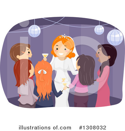 Royalty-Free (RF) Bride Clipart Illustration by BNP Design Studio - Stock Sample #1308032