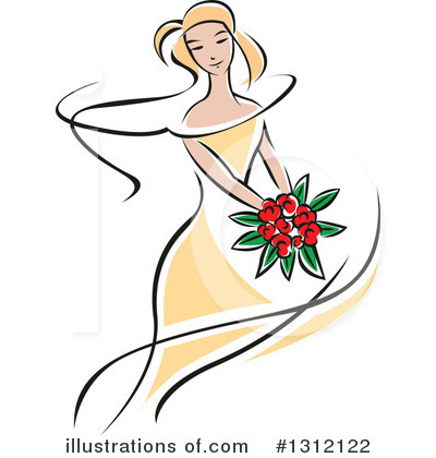 Bride Clipart #1312122 by Vector Tradition SM