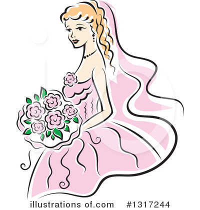 Royalty-Free (RF) Bride Clipart Illustration by Vector Tradition SM - Stock Sample #1317244