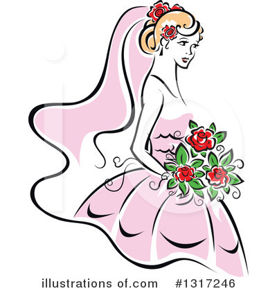 Bride Clipart #1317246 by Vector Tradition SM