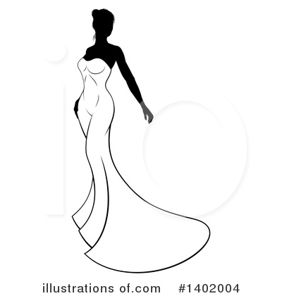 Bride Clipart #1402004 by AtStockIllustration
