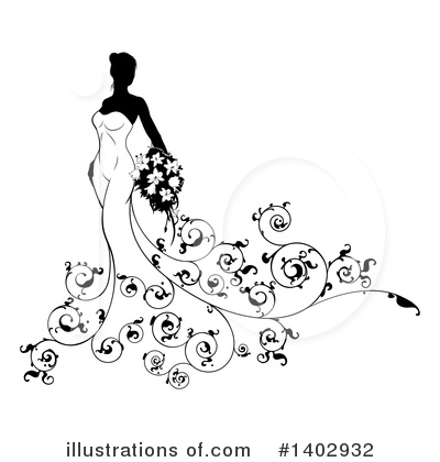 Bride Clipart #1402932 by AtStockIllustration