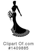 Bride Clipart #1409885 by AtStockIllustration