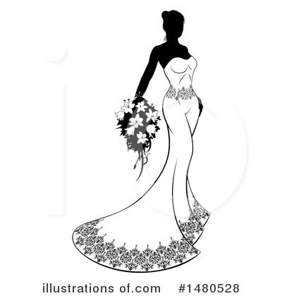 Bride Clipart #1480528 by AtStockIllustration