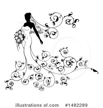 Bride Clipart #1482289 by AtStockIllustration