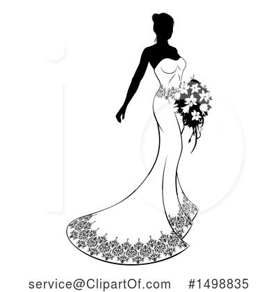 Bride Clipart #1498835 by AtStockIllustration