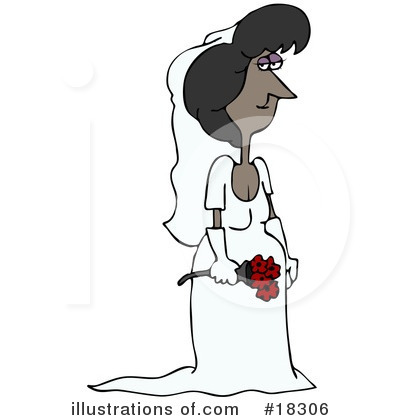Royalty-Free (RF) Bride Clipart Illustration by Dennis Cox - Stock Sample #18306