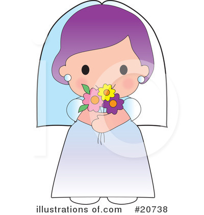 Royalty-Free (RF) Bride Clipart Illustration by Maria Bell - Stock Sample #20738