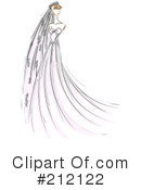 Royalty-Free (RF) bride Clipart Illustration #212122