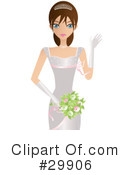 Royalty-Free (RF) Bride Clipart Illustration #29906
