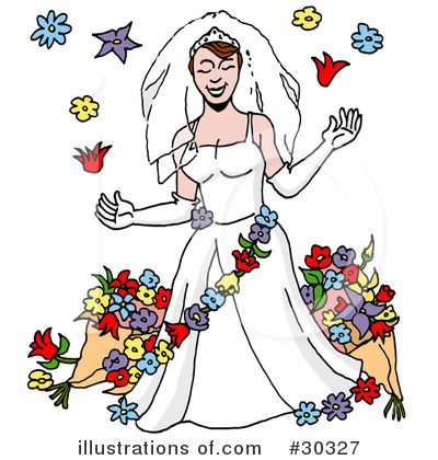 Royalty-Free (RF) Bride Clipart Illustration by LaffToon - Stock Sample #30327