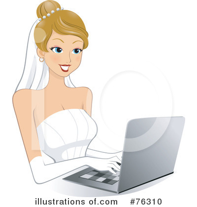 Royalty-Free (RF) Bride Clipart Illustration by BNP Design Studio - Stock Sample #76310