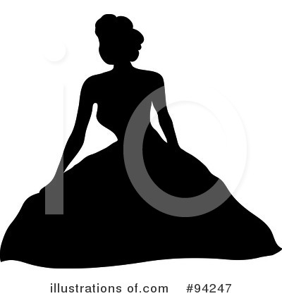 Wedding Dress Clipart #94247 by Pams Clipart