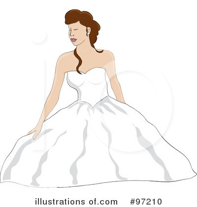 Wedding Dress Clipart #97210 by Pams Clipart
