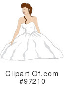 Royalty-Free (RF) Bride Clipart Illustration #97210