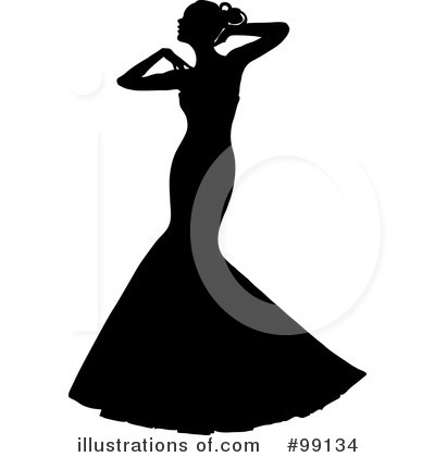 Wedding Dress Clipart #99134 by Pams Clipart