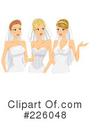 Royalty-Free (RF) Brides Clipart Illustration #226048