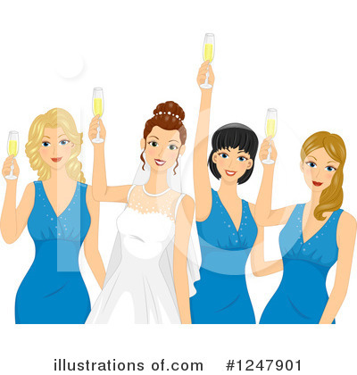 Royalty-Free (RF) Bridesmaids Clipart Illustration by BNP Design Studio - Stock Sample #1247901