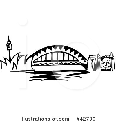 Bridge Clipart #42790 - Illustration by Dennis Holmes Designs