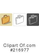 Royalty-Free (RF) Briefcase Clipart Illustration #216977