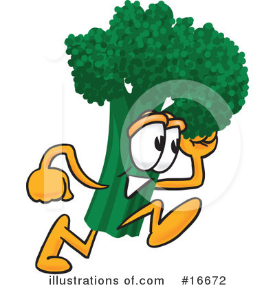 Broccoli Character Clipart #16672 by Toons4Biz