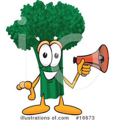 Broccoli Character Clipart #16673 by Toons4Biz
