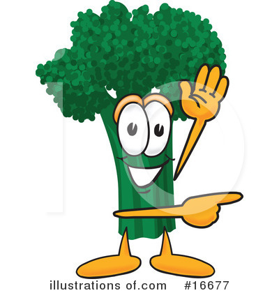 Broccoli Character Clipart #16677 by Toons4Biz