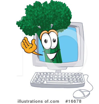 Broccoli Character Clipart #16678 by Toons4Biz