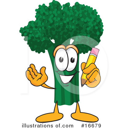 Broccoli Character Clipart #16679 by Toons4Biz