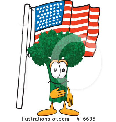 Broccoli Character Clipart #16685 by Toons4Biz