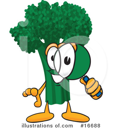 Broccoli Character Clipart #16688 by Toons4Biz
